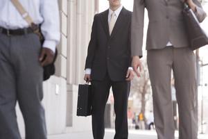 Pedestrians commuting to work