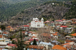 Pedoulas Village In Mountains Of Troodos
