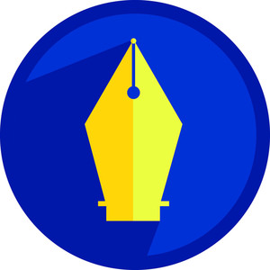 Pen Nib Shape Icon