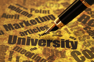 Pen On University Text