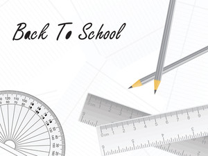 Pencil And Ruler Vector Wallpaper