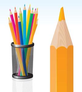 Pencils. Vector.