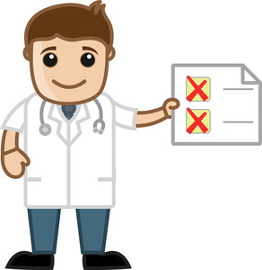 Pending Checklist - Doctor - Office Cartoon Characters