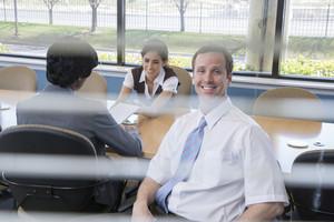 People in meeting room
