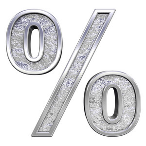 Percent Sign From Chrome Cast Alphabet Set