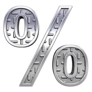 Percent Sign From Steel Tread Plate Alphabet Set