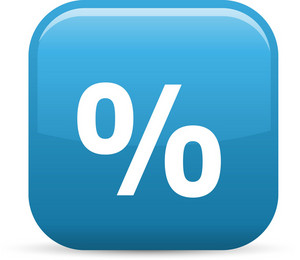 Percentage Elements Glossy Icon