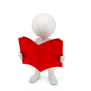 Person With A Opened Red Book