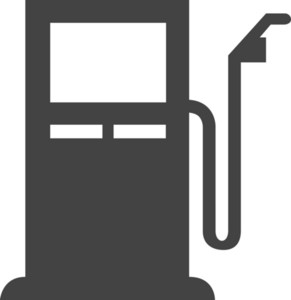 Petrol Station Glyph Icon