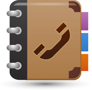Phone Book Brown Lite Media Icon