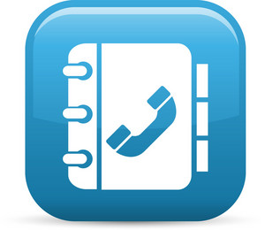 Phone Book Elements Glossy Icon