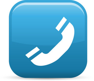Phone Handset Elements Glossy Icon