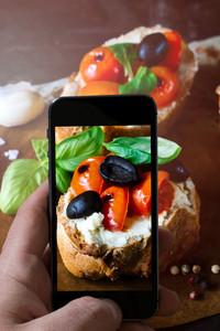 Phone Photo Of Bruschettas