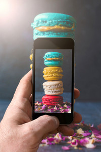 Phone Picture Of Macaroons