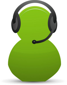 Phone Support Lite Communication Icon