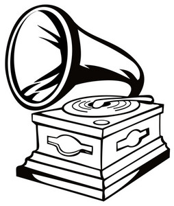 Phonograph Black And White