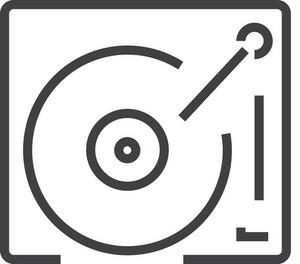 Phonograph Minimal Icon