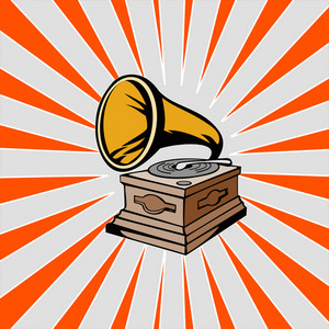 Phonograph With Sunburst