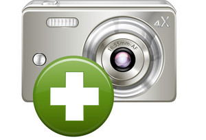 Photo Camera With Green Add