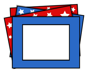 Photo Frame Us 4th Of July Independence Day Vector Design