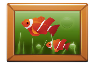 Photo Frame With Fish