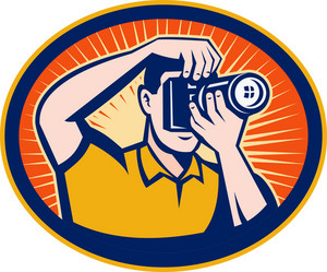 Photographer With Dslr Digital Camera