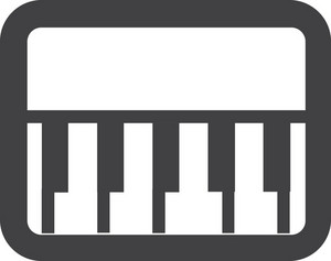 Piano Keys Stroke Icon