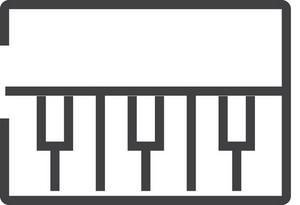 Piano Minimal Icon