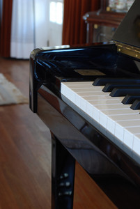 Piano On A Living Room