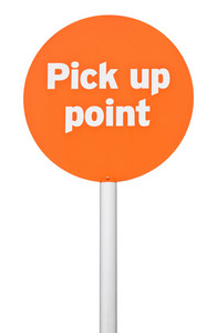 Pick Up Point Sign