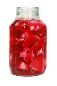 Pickled Vegetables In Huge Glass Jar