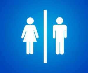 Pictograms Blue Background