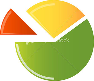 Pie Chart Icon On White Background