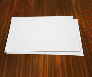 Piece Of Paper On Table