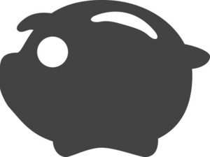Pig Glyph Icon