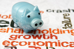 Piggy Bank On Growth Economy Concept