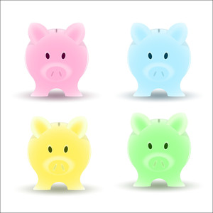 Piggy Bank Vectors
