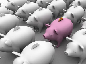 Piggy Banks - Saving Background