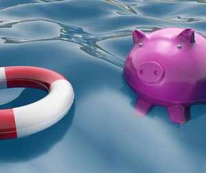 Piggy With Lifebuoy Shows Investing In Lifesaver