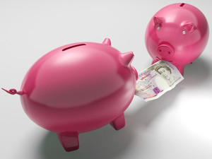 Piggybanks Fighting Over Money Shows Investment Decisions