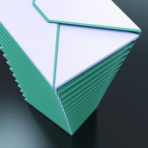 Piled Envelopes Shows Computer Mail Outbox Communication