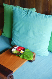 Pillow on spa room