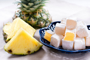 Pineapple Slices And Sugar Dusted Cubes