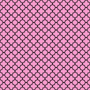 Pink And Black Quatrefoil Pattern