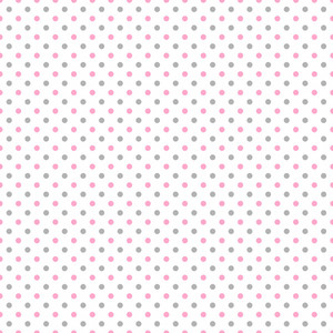 Pink And Grey Polka Dots Pattern On A White Background
