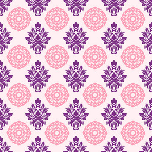 Pink And Purple Decorative Pattern