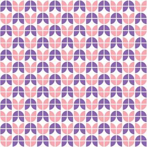 Pink And Purple Tulip Pattern