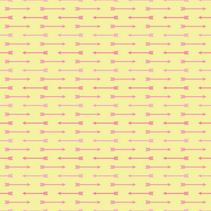 Pink And Yellow Arrows Pattern