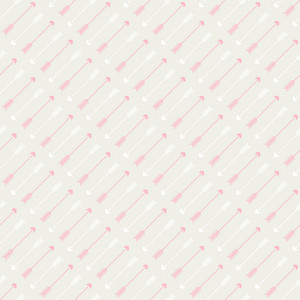 Pink Arrows Pattern On A Grey Background