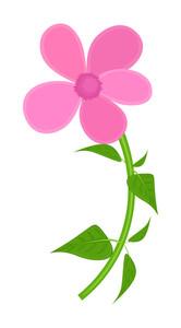 Pink Artistic Flower